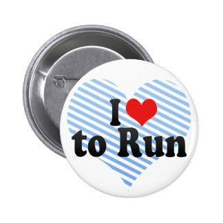 I Love to Run Button