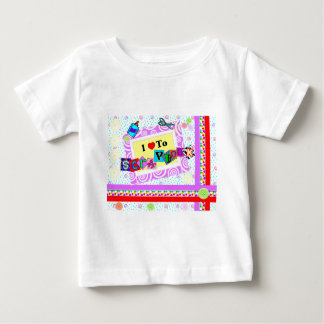 I Love to Scrapbook Baby T-Shirt