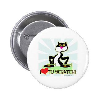 I love to Scratch Pinback Button