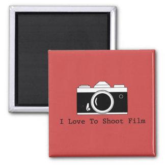I Love To Shoot Film Magnet