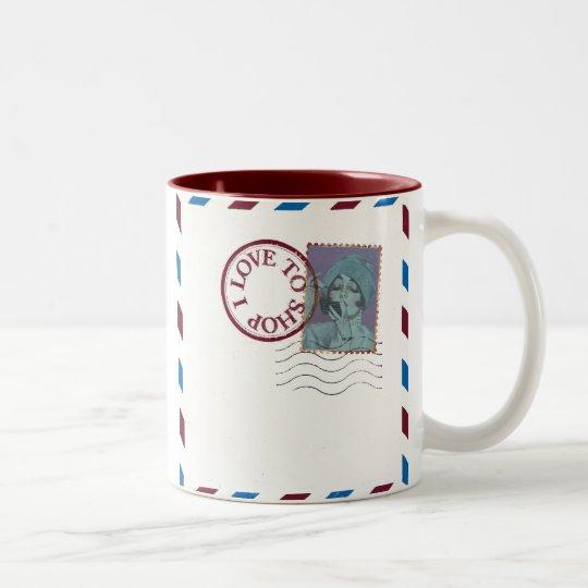i love to shop coffee mug