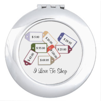 I Love To Shop! Mirror For Makeup