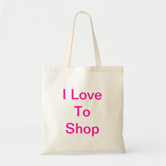 I Love To Shop Tote Bag