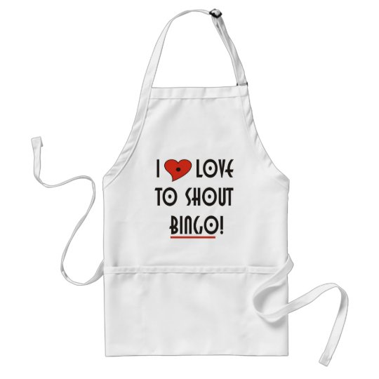I Love to Shout  BINGO Adult Apron