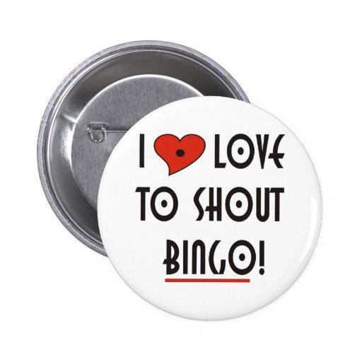 I Love to Shout  BINGO Buttons