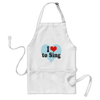 I Love to Sing Adult Apron