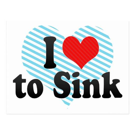 I Love to Sink Postcards