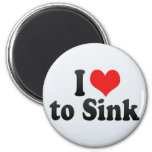 I Love to Sink Refrigerator Magnets