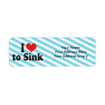 I Love to Sink Return Address Labels