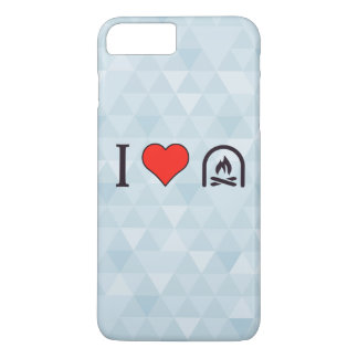 I Love To Sit By The Fireplace iPhone 7 Plus Case
