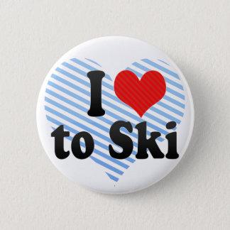 I Love to Ski Button