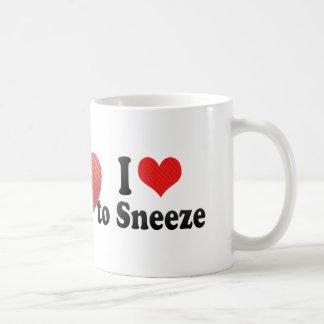 I Love to Sneeze Coffee Mug