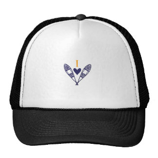I Love to Snowshoe Trucker Hat