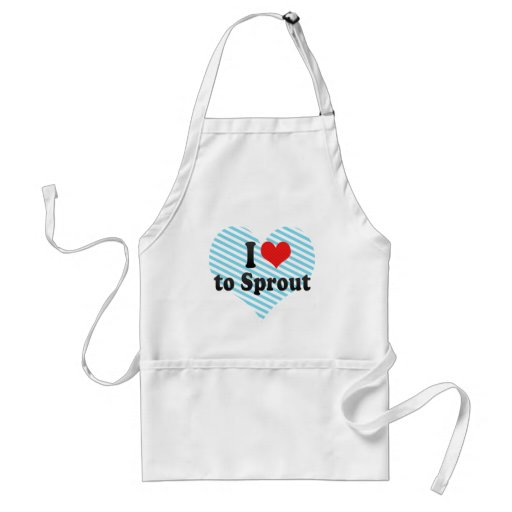 I Love to Sprout Adult Apron