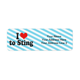 I Love to Sting Custom Return Address Labels