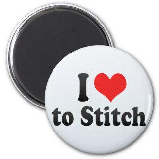 I Love to Stitch Magnet