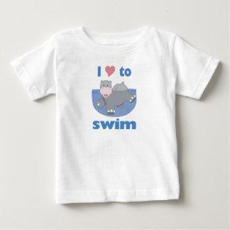 I Love to Swim Hippo T-shirts