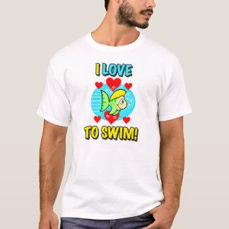I Love To Swim Men's Shirt
