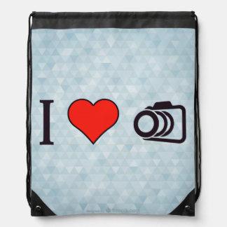 I Love To Take Pictures Drawstring Bag