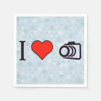 I Love To Take Pictures Paper Napkin