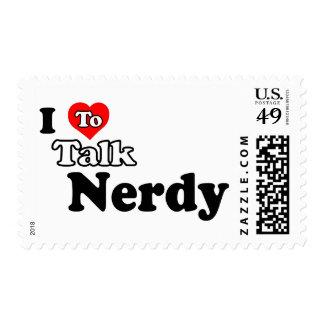 I Love To Talk Nerdy Stamp