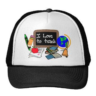 I Love To Teach Mesh Hat