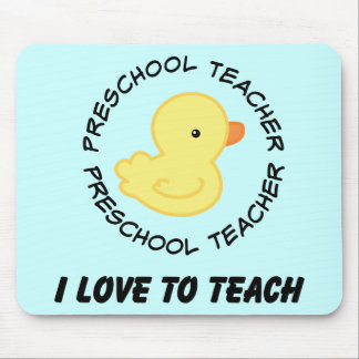 I Love To Teach Preschool Teacher Gift Mouse Pad