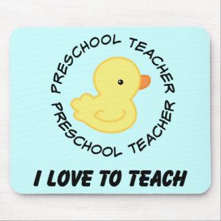 I Love To Teach Preschool Teacher Gift Mouse Pads