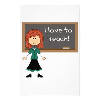 I Love To Teach! Stationery