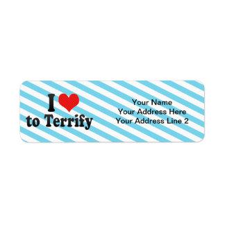 I Love to Terrify Custom Return Address Labels