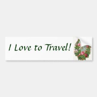 I Love to Travel! Bumper Sticker