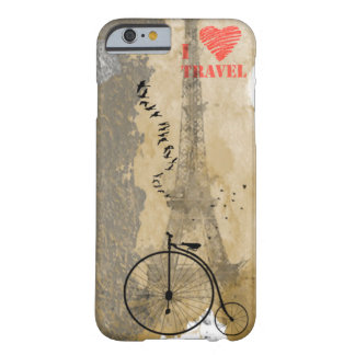 I love to travel barely there iPhone 6 case