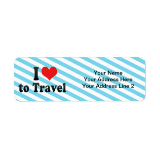 I Love to Travel Label