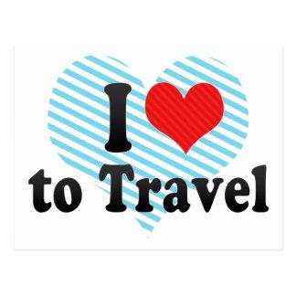 I Love to Travel Postcard