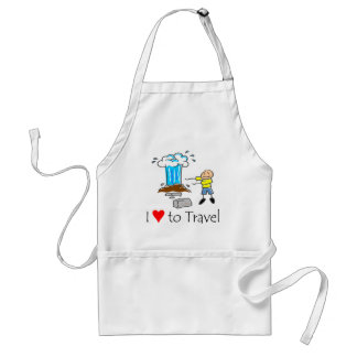 I love to travel T-shirts and Gifts. Adult Apron
