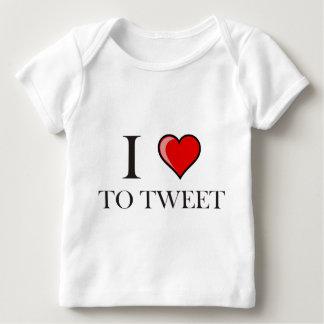 I love to Tweet Baby T-Shirt