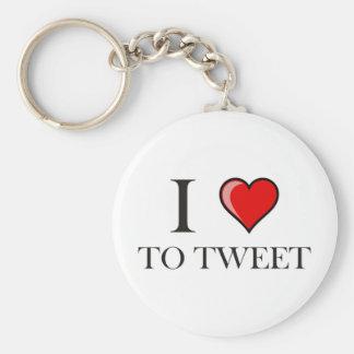 I love to Tweet Keychains