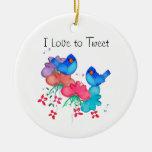 I Love to Tweet Ornament