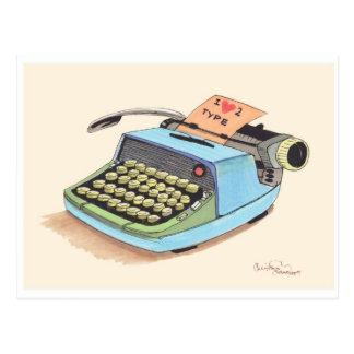 I love to Type! Postcard