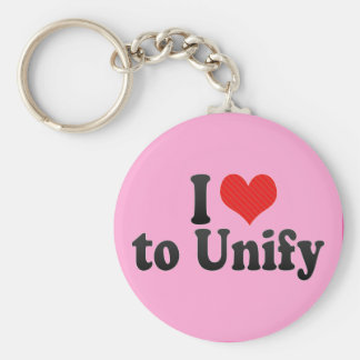 I Love to Unify Basic Round Button Keychain