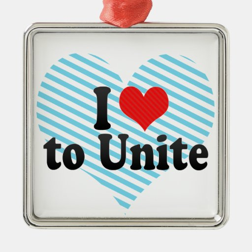 I Love to Unite Christmas Tree Ornament