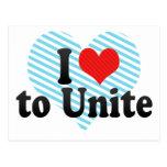 I Love to Unite Post Card