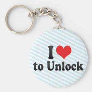 I Love to Unlock Keychains