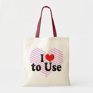 I Love to Use Budget Tote Bag