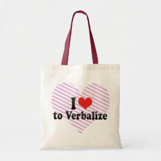 I Love to Verbalize Tote Bags