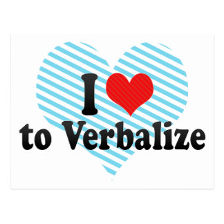 I Love to Verbalize Postcard