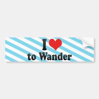I Love to Wander Bumper Sticker