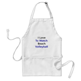 i love to watch beach volleyball adult apron