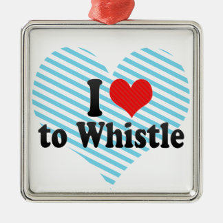I Love to Whistle Christmas Tree Ornament