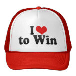 I Love to Win Trucker Hat